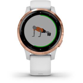 Garmin Vivoactive 4S Reloj Inteligente, blanco/rosa
